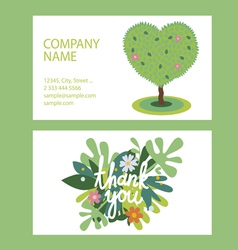 Id designs with floral elements vector