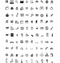 Hundred computer icons vector
