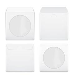 Blank compact disc envelopes vector