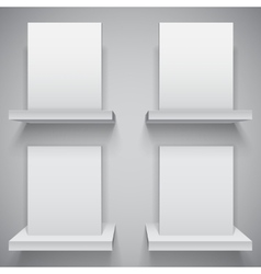 Blank white boxes vector