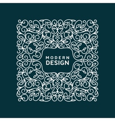 Monogram design element vector