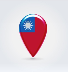 Taiwan icon point for map vector