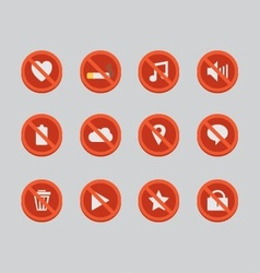 Block sign icons vector
