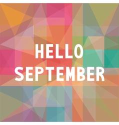 Hello september card1 vector