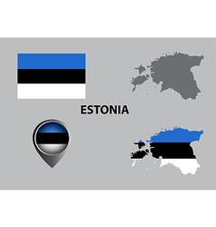 Map of estonia and symbol vector