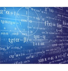Mathematics background with formulas vector