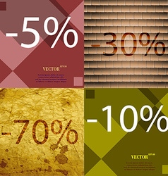 30 70 10 icon set of percent discount on abstract vector