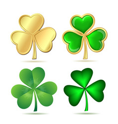 Set of clovers isolated on white vector