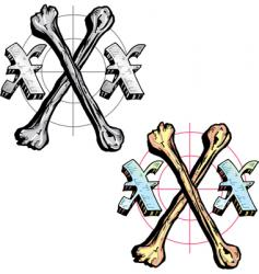 Tattoo style letter x with vector