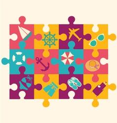 Travel puzzle 2 38 vector