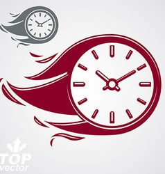 Time is running out concept timer with burning vector