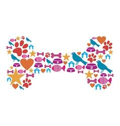 Dog bone icon set vector