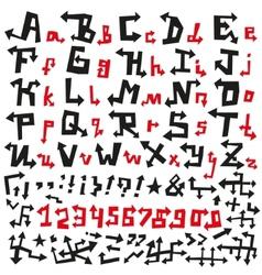 Alphabet arrows font vector