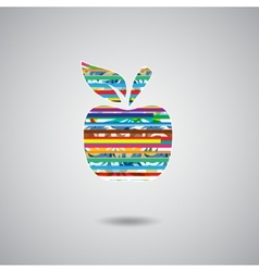 Apple sign color vector