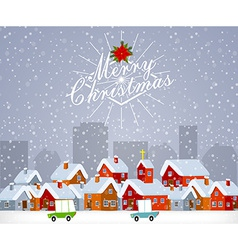 Christmas city vector