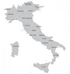 Italian map vector