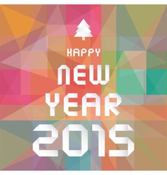 Happy new year 2015 greeting card5 vector