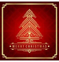 Christmas tree art deco style vector