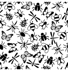 Insect seamless pattern vector