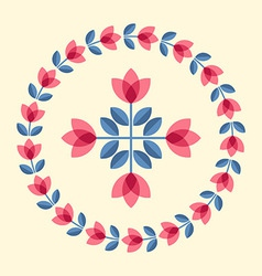 Scandinavian flowers vector
