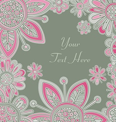 Abstract fantasy floral background vector