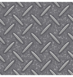 Seamless steel diamond plate grunge texture vector
