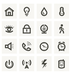 Icon set for security system and house automation vector