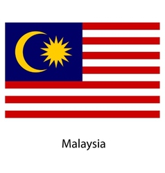 Flag of the country malaysia vector