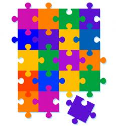Jigsaw pattern background vector