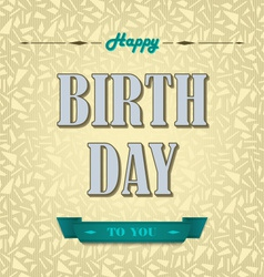 Happy birthday poster background vector