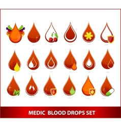 Blood drips set vector