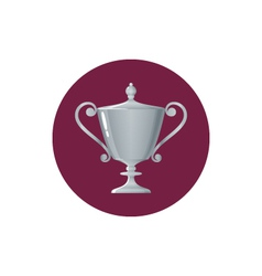 Icon cup of winnericon silver trophy cup vector