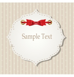 Gift card with ribbons design elements vector