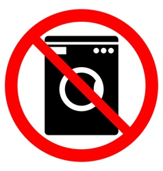 No washing machine icon vector