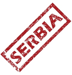 New serbia rubber stamp vector
