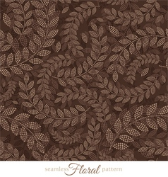 Decorative floral seamless pattern vector