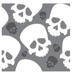 Seamless wallpaper with skulls vector