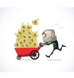 Businessman run money vector