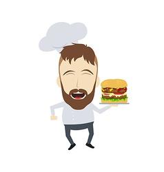 Master chef cartoon vector