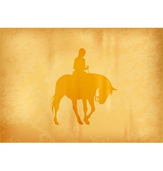 Background with horse riding vector