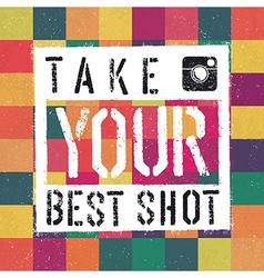Best shot retro poter vector