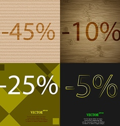10 25 5 icon set of percent discount on abstract vector