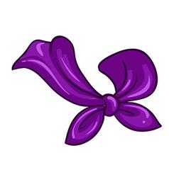 A violet scarf vector