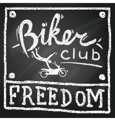 Motobikers club poster vector