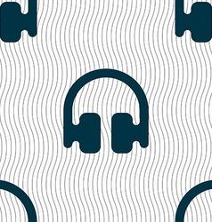 Headphones earphones icon sign seamless pattern vector