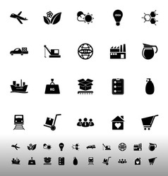 Supply chain and logistic icons on white vector