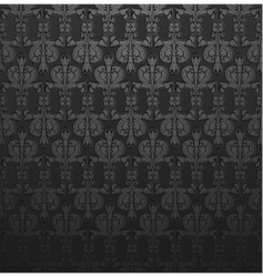 Dark gray damask ornate wallpaper vector