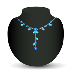 Womans necklace vector