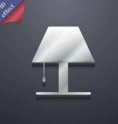 Lamp icon symbol 3d style trendy modern design vector