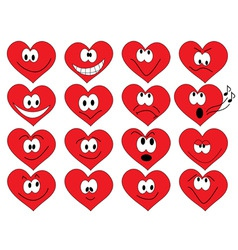 Heart shape faces vector
